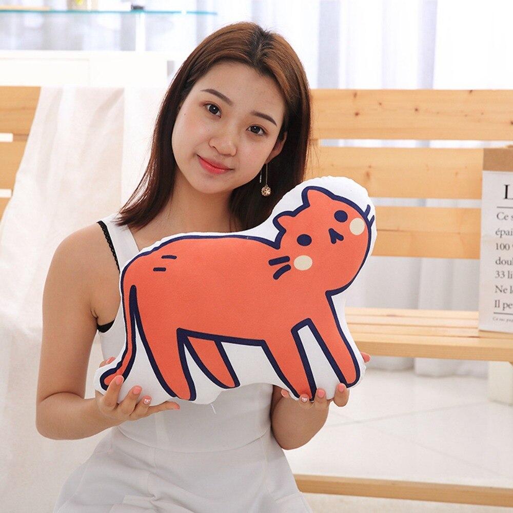 1pc 45cm Kawaii Plush Cat Toys Staffed Cute Shadow Cat Kids Gift Doll Lovely Animal Toys Home Decoration Soft Pillows & Cushion