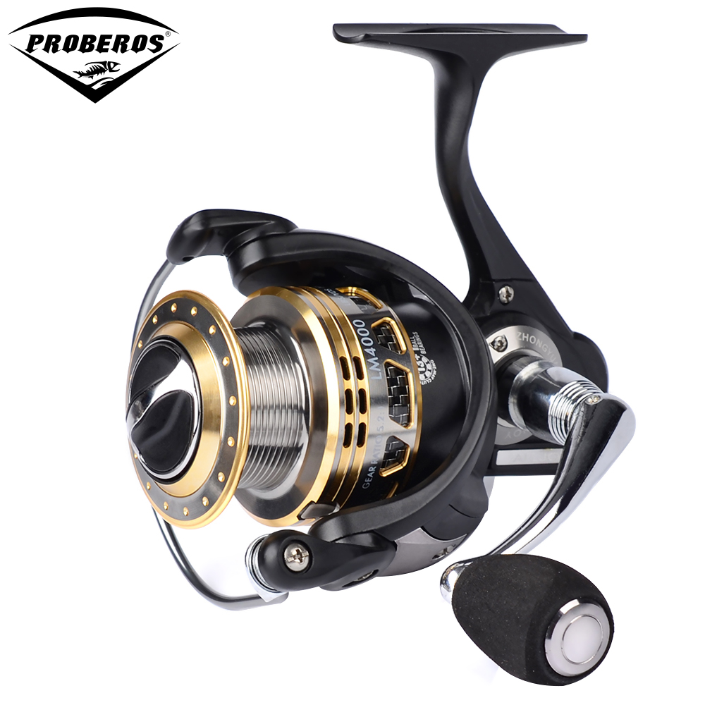 PRO BEROS Aluminum alloy Fishing Reel New Water Resistant Carbon Drag Spinning Reel with Larger Spool 20KG Max Drag Sea Boat