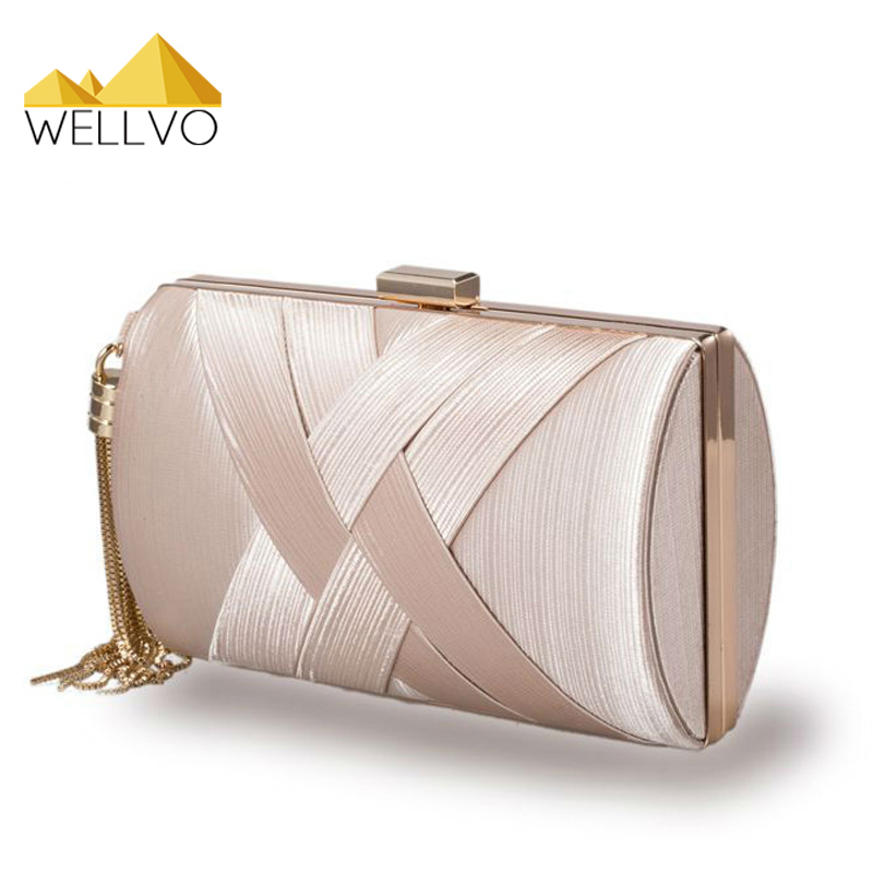 Luxury Women Day Clutch Satin Evening Bag Tassel Chain Hand Bag Famous Brand Briday Wedding Party Bags Ladies Clutches Mini XA4c luxury designer gold clutches flap women evening bags long chain tassel shoulder bag wedding party rhinestone clutch purse l897