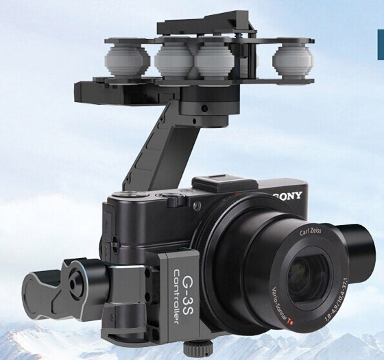 Walkera G-3S Brushless Gimbal for SONY RX100 II Camera Free Track Shipping f11088 walkera camera mount g 3dh brushless gimbal with 360 degrees tilt control