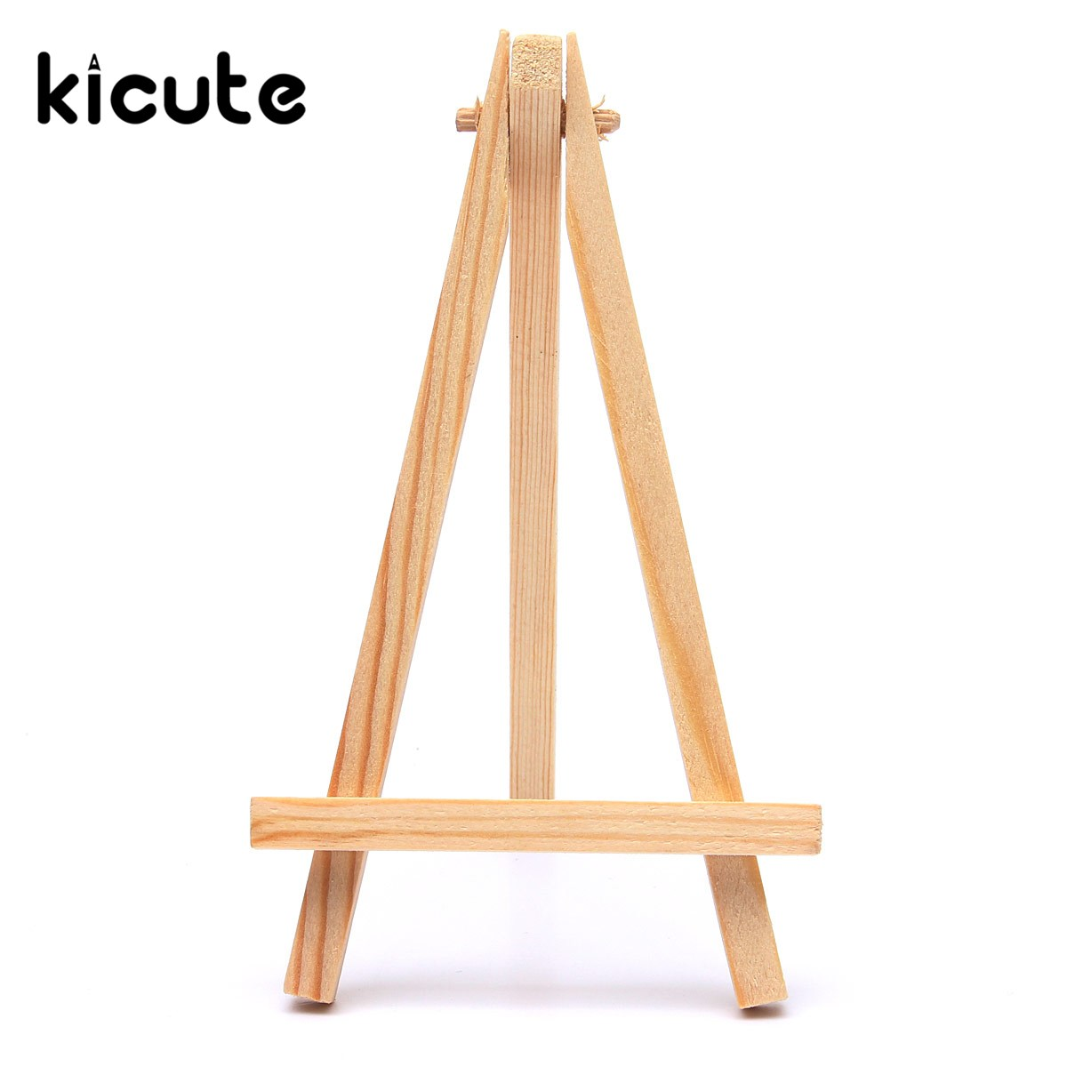 Kicute Portable Wood Artist Easel Wedding Table Number Place Name Card Photos Stand Display Holder DIY Party Table Tools