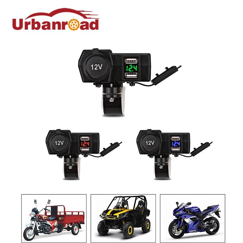 Motorlu motosiklet cüt USB şarj suya davamlı motorbike USB - Avtomobil elektronikası - Fotoqrafiya 1