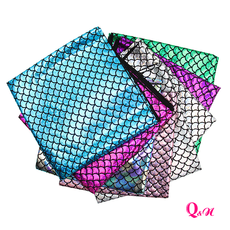 Q & N 50*145 см рыбья чешуя синтетическая голограмма спандекс ткань для шитья DIY ремесло декоративная одежда бантик сумки