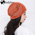 Ladybro 2017 Spring Women Hat Bonnet Cap Femme Casual Autumn Women Slouchy Skullies Beanies Eagle Rhinestone Hat Cap Female