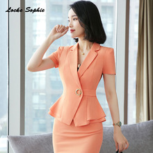 1pcs Women's Blazers coats 2019 Summer Fashion cotton blend Splicing Small Suits jackets ladies Skinny Blazers Suits coats Girls