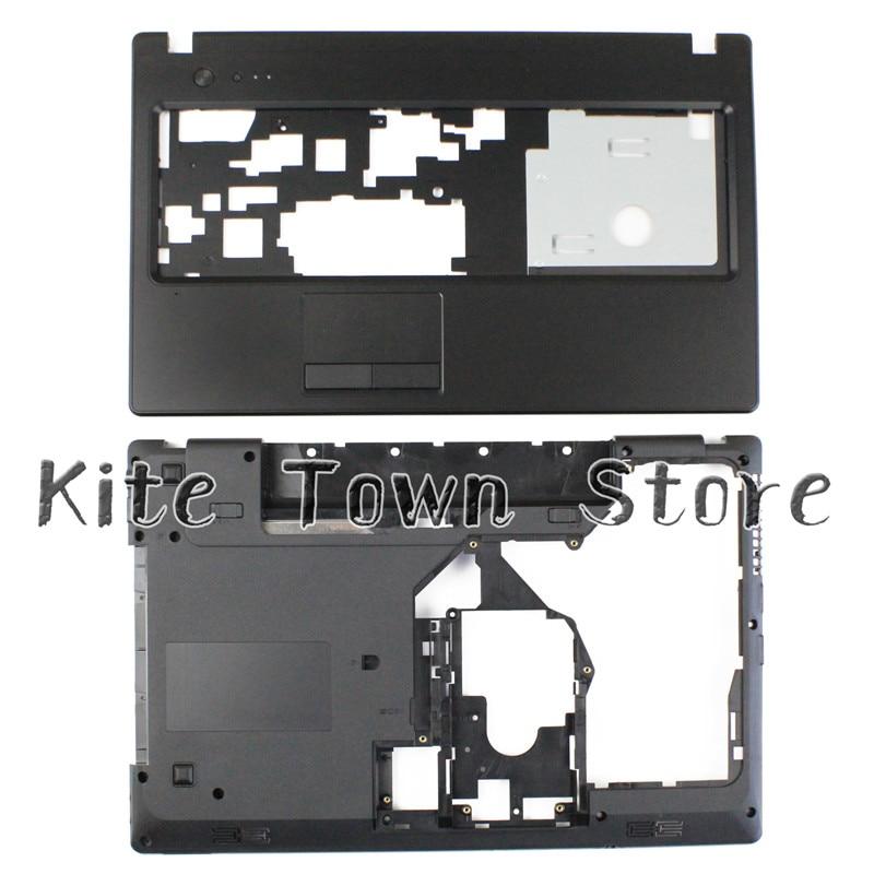 NEW For Lenovo G570 G575 Bottom Base Cover Case & Palmrest Upper Case HDMI Combo Free Shipping new for lenovo g570 g575 series palmrest case