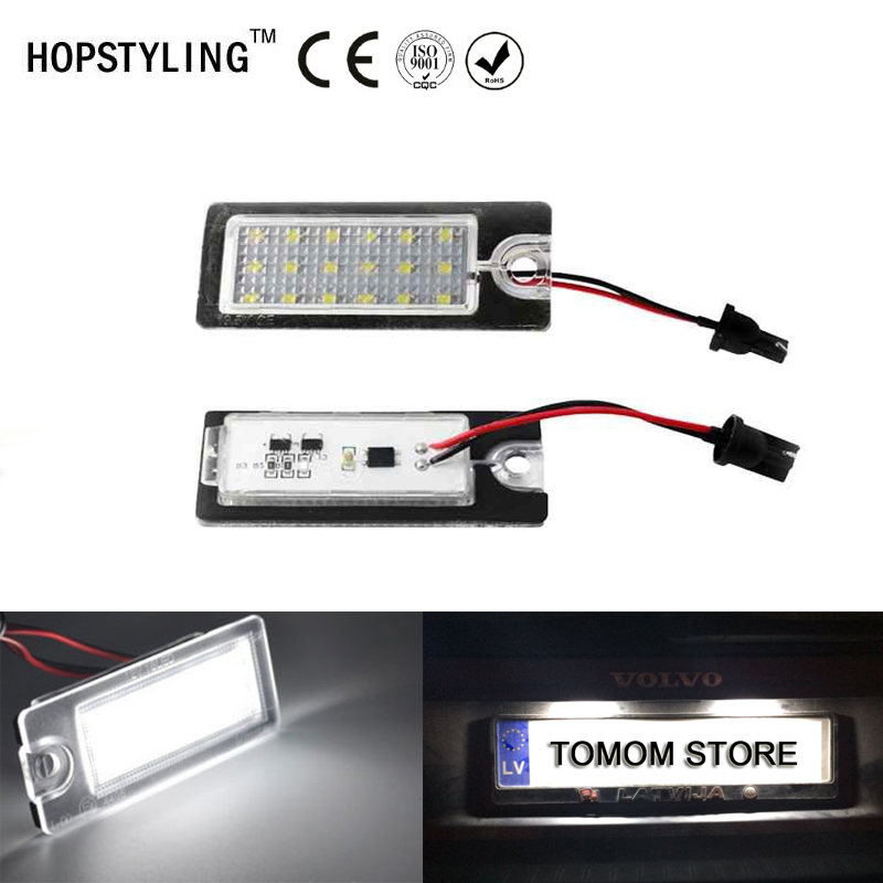 For <font><b>Volvo</b></font> V79II XC70II S60 <font><b>S80</b></font> XC90 Canbus No Error LED <font><b>Rear</b></font> number plate <font><b>light</b></font> Auto replacement lamp car styling image