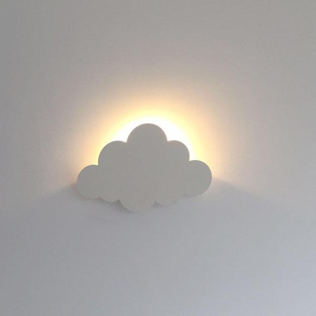 die sonne hinter wolke kreative moderne wandleuchte kinderzimmer, Design ideen