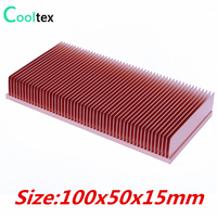 2016 Pure Copper Heatsink 100x50x15mm Skiving Fin Heat Sink Radiator Cooling For Electronic CPU GPU RAM