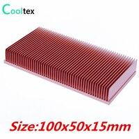 2016 Pure Copper Heatsink 100x50x15mm Skiving Fin Heat Sink Radiator Cooling For Electronic CPU GPU RAM