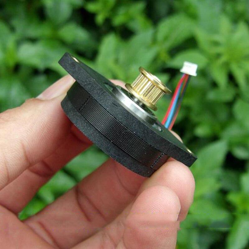 Лун 36BYG 0,9 градусов 36 мм на круглом тонком 2-фазный 4-проводной Высокоточный шаговый двигатель Медь шкив DIY ЧПУ 3D-принтеры