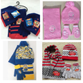 3pc/ Set Hot Sale Autumn Winter Kids Knitted Hat Scarf Gloves For Boys and Girls Children Chrismas Gifts Knitted Caps