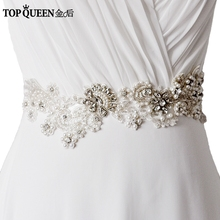 TOPQUEEN S157 Stock Luxury Rhinestone crystal Brand design Hand Made top quality bridal wedding waistband belt sash