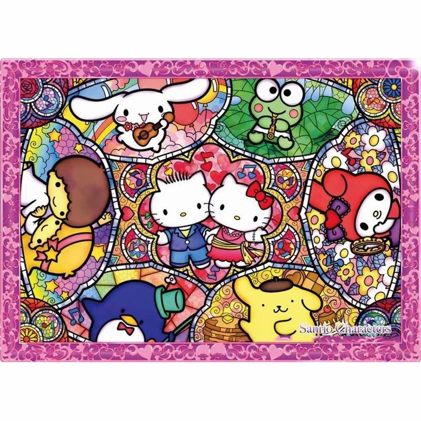 Hello Kitty Diamond Painting Kit with Square Frame