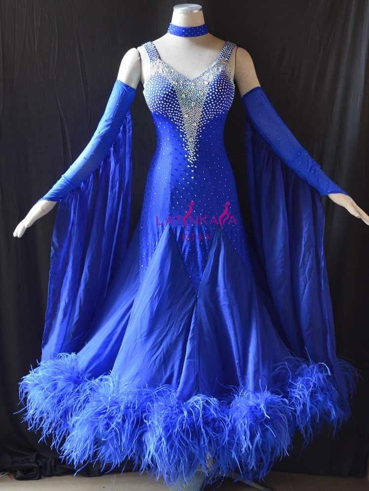 c109a7279a46 Detail Feedback Questions about KAKA DANCE B1530,New Feathers Ballroom  Standard Dance Dress,Waltz Ballroom Competition Dress,ballroom dance  competition ...