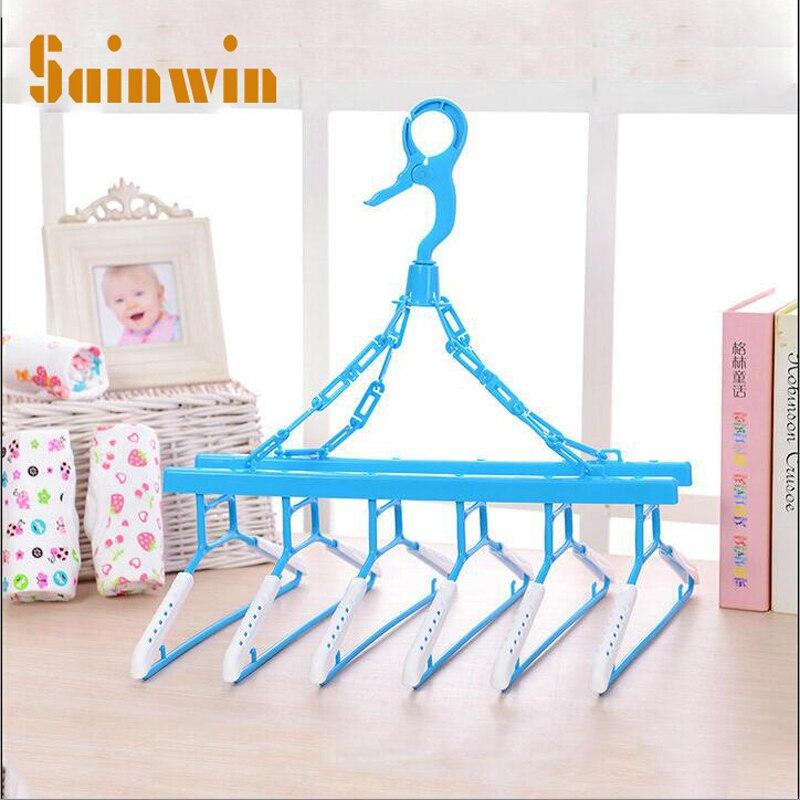 Sainwin plastový závěs multifunkční zasouvací zařízení pro dospělé dvojitý věšák dětské věšáky pro oděvy