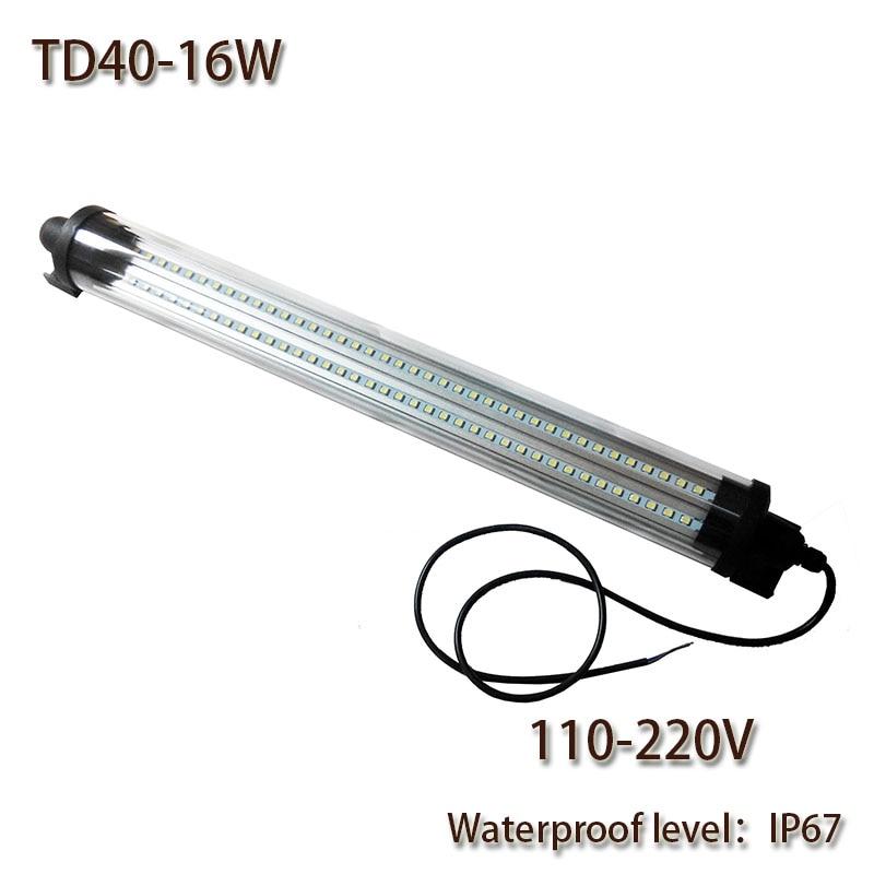 Radno svjetlo HNTD 16W AC 110-240V vodootporno IP67 otporno na eksplozije TD40 LED ploča za CNC alatne strojeve visoke kvalitete