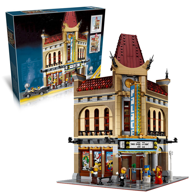 Lepin 15006 Palace Cinema building bricks blocks Gift Toys for children boys Game Compatible with Bela Decool 10232 hot sembo block compatible lepin architecture city building blocks led light bricks apple flagship store toys for children gift