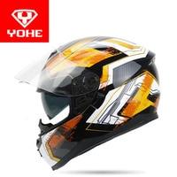 2017 Summer New Double Lenses YOHE Full Face Motorcycle Helmet Model YH 967 Made Of ABS