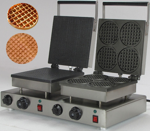 220v  Electric  Commercial double waffle maker_belgian waffle iron