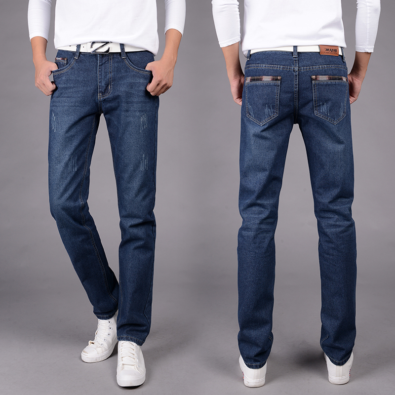 Jeans men 2017 Fashion Brand Classical Men Regular Straight fit Jeans Casual Blue Water Washed Slim  Denim Jeans men s cowboy jeans fashion blue jeans pant men plus sizes regular slim fit denim jean pants male high quality brand jeans