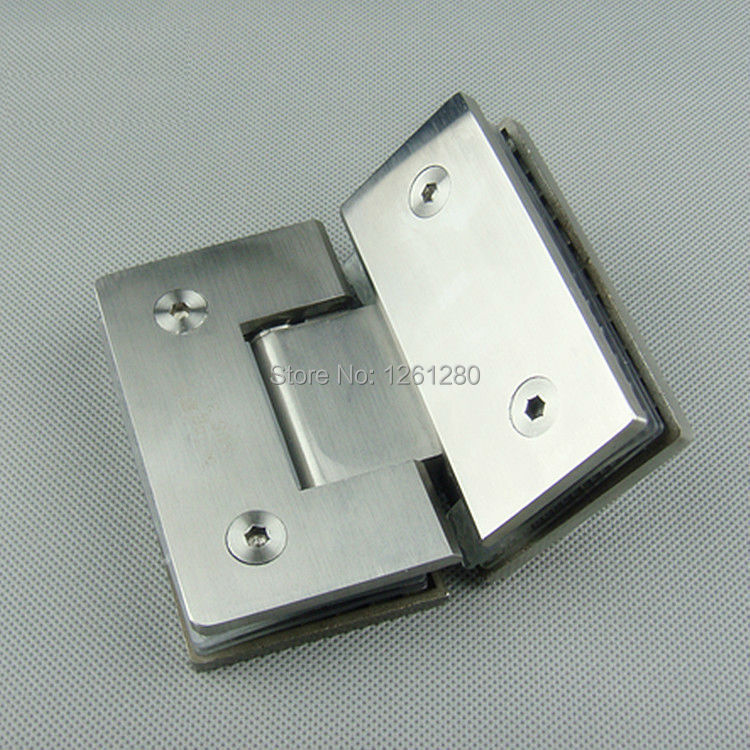 free shipping Stainless steel glass door hinge bathroom clip shower room hinge glass clamp household hardware 135-degree hinge simfer b6em13001