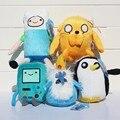 5 estilos Adventure time Jake Finn Beemo BMO Pingüino Gunter Ice king suave felpa muñeca de peluche juguetes para regalos de los niños