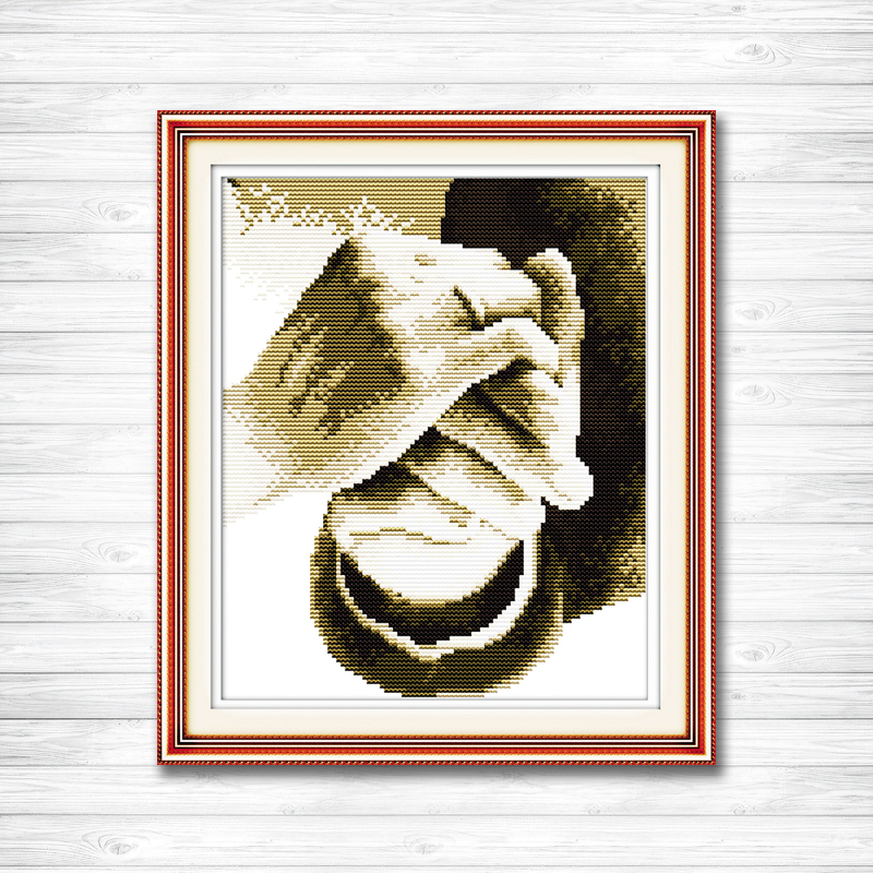 Hold your hand in hand love home Decor 11CT counted printed on canvas DMC Cross Stitch kits 14CT needlework Set DIY embroidery