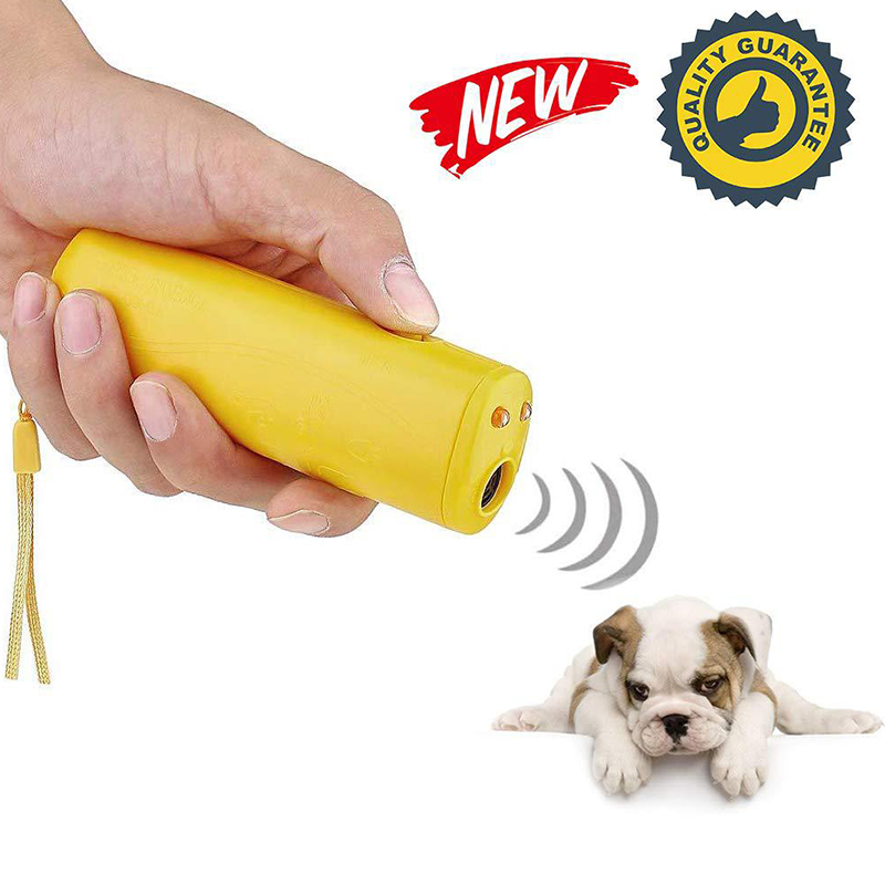 Ultrasonic Pet Dog Repeller Anti Barking Stop Bark Training Device Trainer LED 3 in 1 Without Battery X