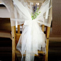 10 Pieces Cheap Chair Sashes White Tulle Wedding Decoration Party Banquet Party Decorations Chair Sash Cover