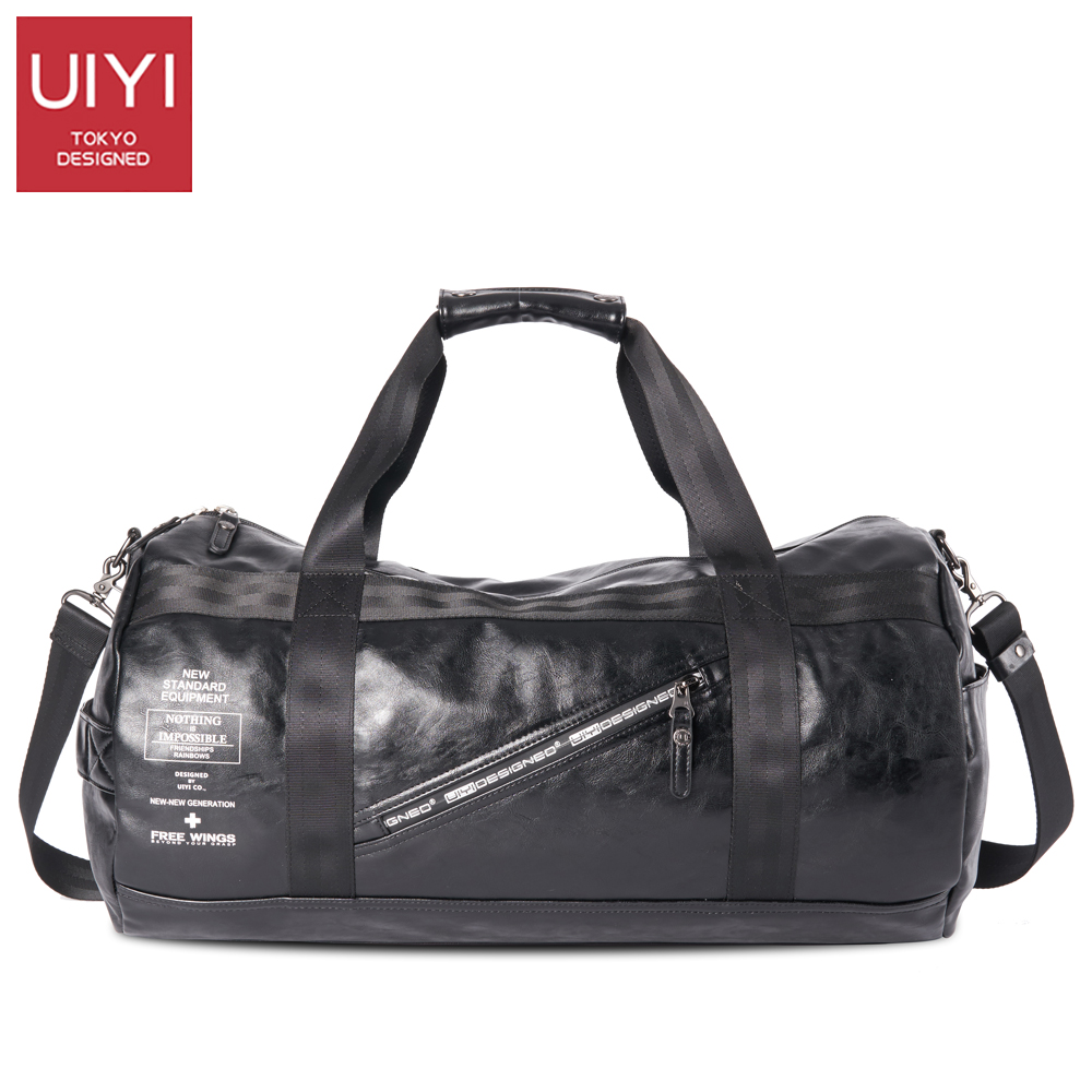 UIYI Men Soft PVC Travel Bag Classic High-Capacity handbag For Men Waterproof Shoulder Bags Luggage Travel Duffle # UYS7032 3