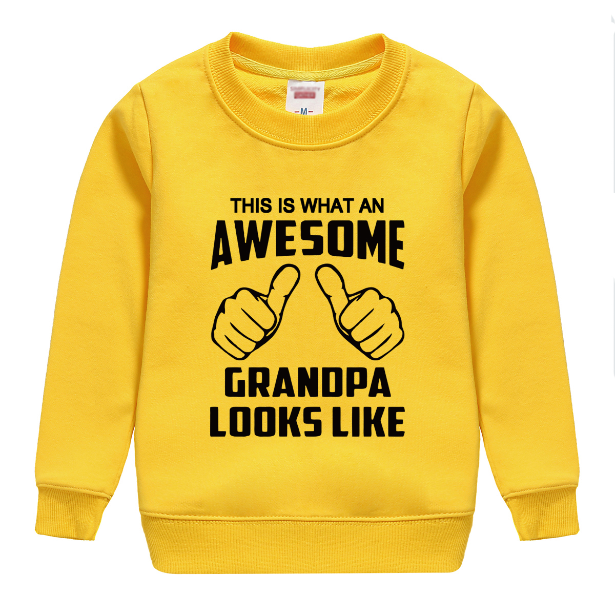 "HTB1m.E5lL2H8KJjy0Fcq6yDlFXaW - ""this is what an awesome granopa  looks like "" printing 2018 new fashion cotton sweatshirt baby boy clothing top tees for kids"