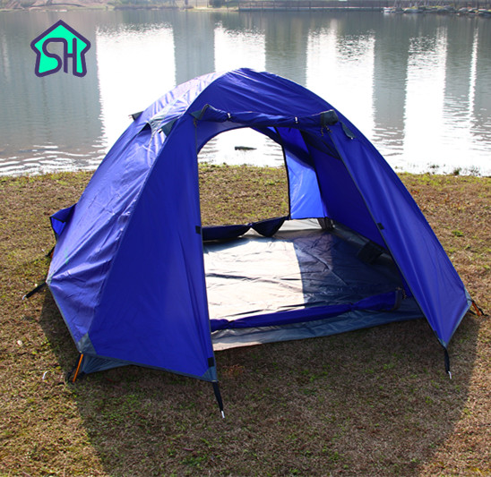 StarHome New Outdoor Camping Tent 2-3 Person 3 Colors Hiking Mosquito Net Tent Waterproof 3000mm Ultralight Tent 2.5kg high quality outdoor 2 person camping tent double layer aluminum rod ultralight tent with snow skirt oneroad windsnow 2 plus