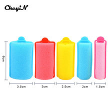 27pcs 5 Sizes Curler Hairdressing tool Colorful Soft Styling Tools Sponge Magic Hair Curler Rollers Hair Styling Foam S2222