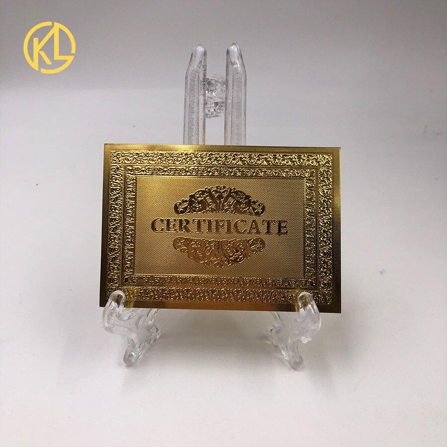 Pour une bonne vente de matière plastique certificat plaqué couleur or pour le billet de banque du Zimbabwe et tous les billets en or-in Billets en or from Maison & Animalerie    1