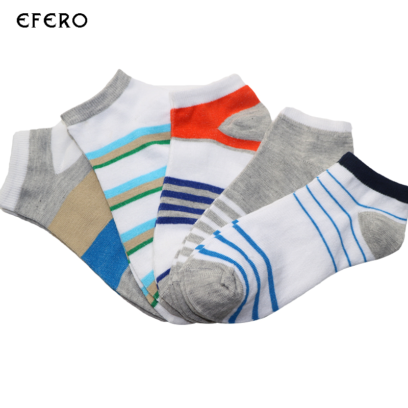 3Pair Invisible Men Ankle Socks Striped Style Compression Socks Man Business Dress Socks Meias Homens Low Cut Sock Short For Man