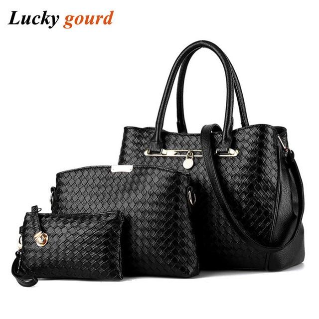 c3bb4697d3890 Neue Frauen Schwarz Eimer Tasche Damen Handtaschen Pu-leder Schulter  taschen Luxus Marke Handtasche Geflochtene
