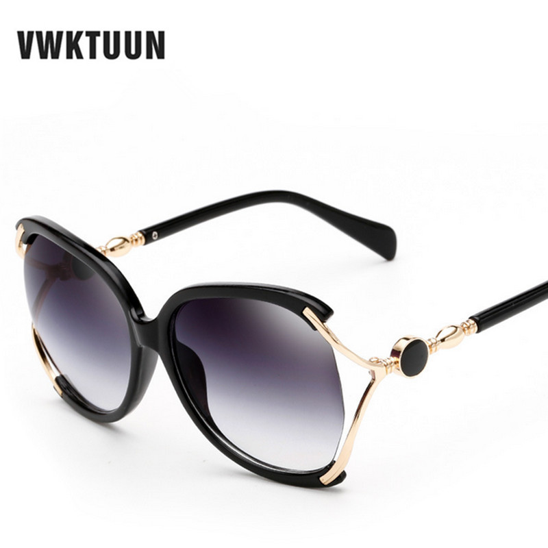VWKTUUN Mode Surdimensionné lunettes de Soleil De Cru Ovale lunettes de Soleil  Femmes Marque Designer Lunettes de Soleil Oculos De Sol UV400 WCG431 873506626d2c