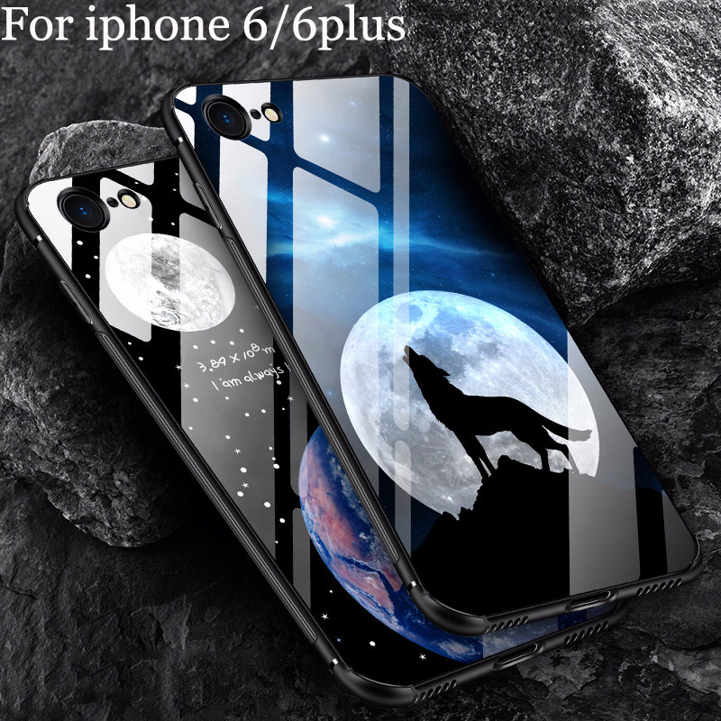 Tempered Glass <font><b>case</b></font> For iphone 6/6plus <font><b>case</b></font> cover For <font><b>iphone6</b></font> plus <font><b>case</b></font> shell Fashion Mirror For iphone 6 plus back cover image