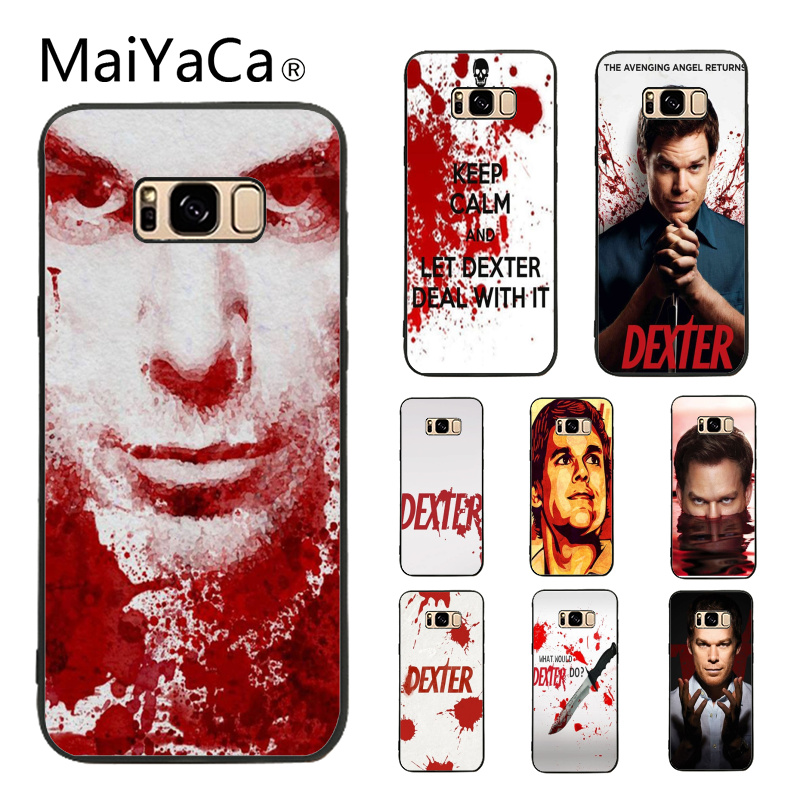 MaiYaCa Dexter Keep Calm and Let Dexter Deal TPU Soft Silicone black Phone Case Cover For Samsung Galaxy S8 plus S9 plus