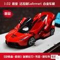 Nueva Supercar 1:32 del coche de metal de juguete para niños de sonido y luz italia coche deportivo de color rojo / amarillo Enzo LF doble caballos envío gratis regalo