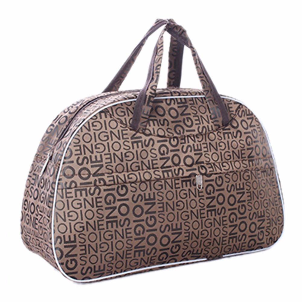 Fashion Waterproof Oxford Women bag Newspaper Pattern Travel Bag Large Hand Canvas Luggage Bags