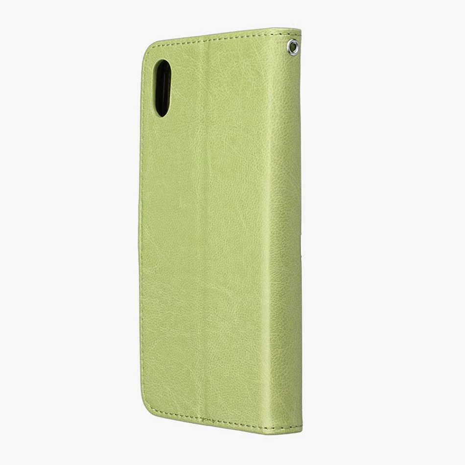 สำหรับ iphone 7 8 6 Plus X XS Max กรณีสำหรับ Coque iphone 7 X XS XR 5 5 s SE 4 4 s กระเป๋าสตางค์โทรศัพท์พร้อมช่องใส่การ์ด