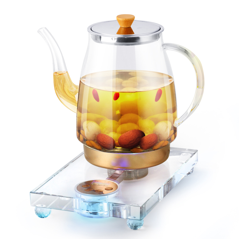 Electric kettle Crystal health pot fully automatic tea making machine multi-function thick glass electric Overheat Protection health raising pot is fully automatic and thickened glass