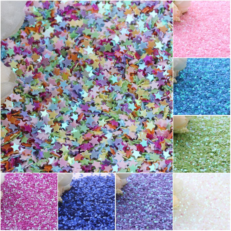 Star Glitter Sequins 3mm PVC Loose Paillettes Nail Art Manual Sewing Wedding Craft Accessories DIY Pendant Sequin Trim 10g