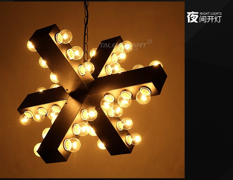 American industrial Retro loft designer Nordic Fashion creative personality Bar and restaurant light Wrought iron chandelier american loft retro personality industrial fan iron pendant light bar restaurant clothing store droplight