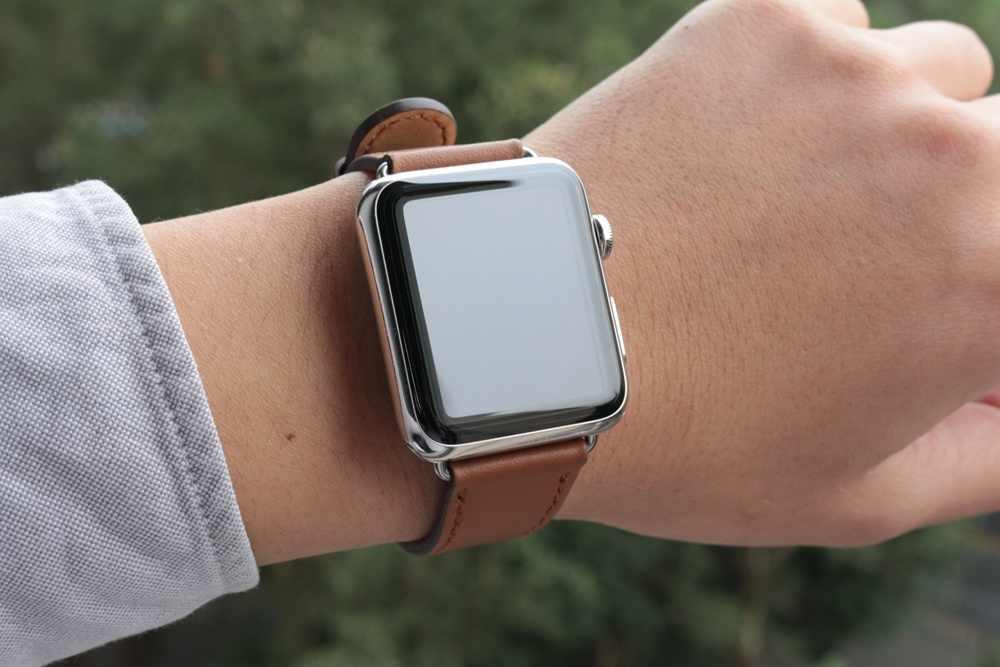 URVOI классический ремешок с пряжкой для Apple Watch series 5 4 3 2 1 ремешок для iwatch телячья кожа с квадратной пряжкой современный дизайн GEN.2