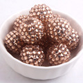 12mm/16mm/10mm to 26mm Champagne Color Whoelesales Price Chunky Resin Rhinestone Beads Ball for Kids Necklace Jewelry