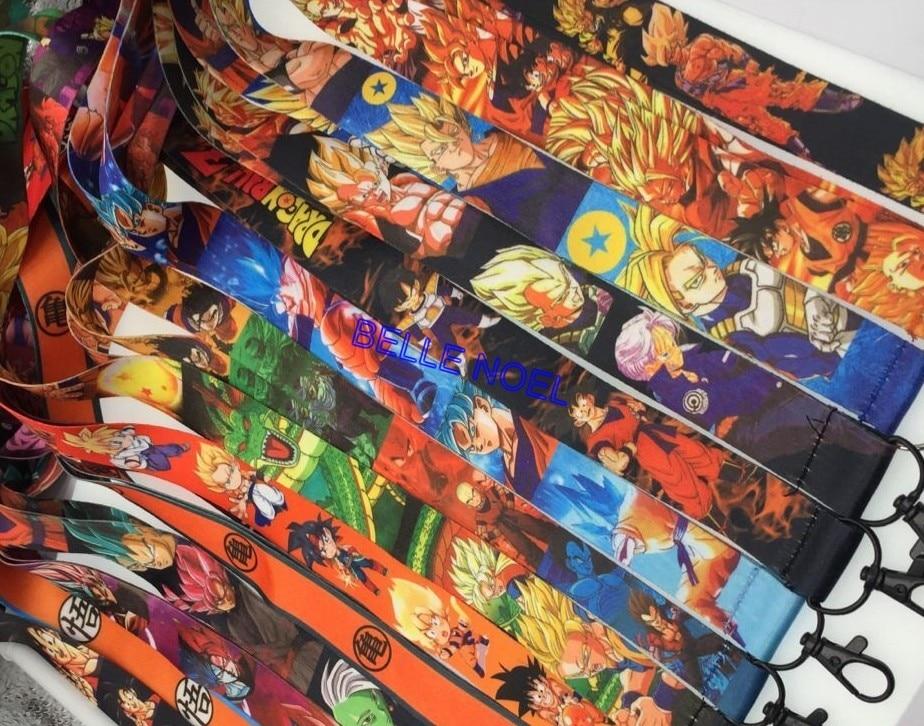 200 Pcs dragonball Anime Cartoon Lanyard ID Badge Holder Key Neck Strap kids gifts