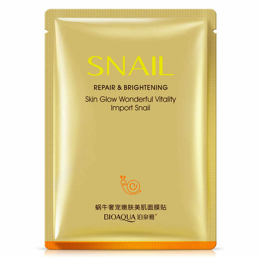 1Pcs Snail สารสกัดจากคริสตัล Moisturizing Mask Skin Care Plant Facial Mask Moisturizing ควบคุม Blackhead Remover Mask Face Care